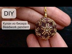# Pendant made of beads Making Bracelets With Beads, Jewelry Making, Bracelet Patterns, Beading Patterns, Macrame Patterns, Paper Beads Tutorial, Macrame Tutorial, Free Beading Tutorials, Beadwork Designs