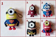 USB 2.0 4GB Minions Super Hero Batman Ironman Capitan America Superman Spiderman