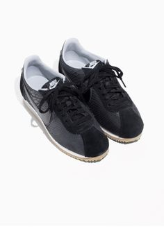6375208395bf Other Stories image 2 of Nike Classic Cortez Leather in Black Nike Classic  Cortez Leather