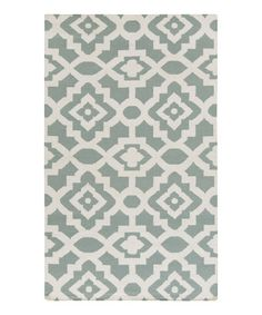 Love this Sea Blue Market Place Hand Woven Wool Rug on #zulily! #zulilyfinds