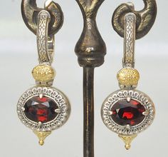 US $445.00 New with tags in Jewelry & Watches, Fine Jewelry, Fine Earrings  Love these garnet earrings.  Red is so hard to find and these are beautiful.