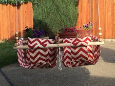 Twin Babies Fabric Swing. Double Indoor/Outdoor by CUTESTBABIES2