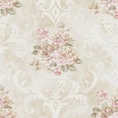 vintage shabby chic kitchen wallpaper | CO80901 | Connoisseur Wallpaper Book by Seabrook, SBK25427 ...