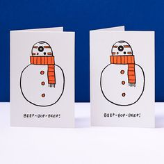 Pack+of+4+Star+Wars+Christmas+Cards+BB8+Christmas+by+StudioSnitch