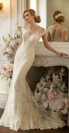 Cheap bridal gown, Buy Quality vintage wedding dresses 2014 directly from China lace wedding dress Suppliers: Vestido De Noiva Mermaid Vintage Wedding Dress 2014 Sexy Open Back Lace Wedding Dresses Bridal Gown Robe De Mariage Casamento Vintage Inspired Wedding Dresses, Stunning Wedding Dresses, 2015 Wedding Dresses, Beautiful Dresses, Wedding Gowns, Lace Wedding, Mermaid Wedding, Wedding Blog, Lace Mermaid