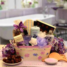 Serenity Bath & Body Spa Gift Basket w/Decadent Chocolates. Organic Stores s relaxing spa gift basket. Serenity Bath & Body Spa Gift Basket w/Decadent Chocolates. Bath Gift Basket, Spa Basket, Basket Ideas, Shower Basket, Gift Baskets For Women, Mother's Day Gift Baskets, Spa Gifts, Baby Gifts, Rose Candle