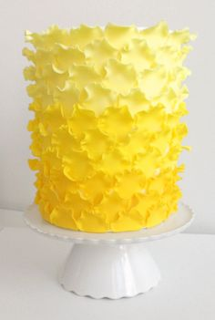 Ombre Ruffled Petal Cake How-To