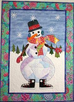 F20555-44 | Fabrics for quilts and crafts | Pinterest | Snowman ... : snowman quilt patterns applique - Adamdwight.com