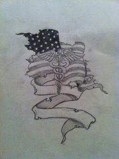 Tattoo design. Combat medic. Army. Custom.