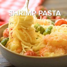 Shrimp Pasta is an easy dinner recipe ready in 30 minutes! Linguine tossed with a garlic butter sauce, grilled shrimp and tomatoes makes a flavorful dish! Easy Grilled Shrimp Recipes, Marinated Grilled Shrimp, Spicy Shrimp, Shrimp Pasta, Shrimp Tacos, Shellfish Recipes, Seafood Recipes, Pasta Recipes, Dinner Recipes