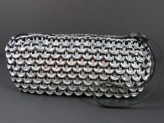Loredo Black Pop Tab Clutch  Eco friendly purses are a part of our up-cycled fashion collection. $42