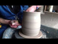 How to throw a pottery biscuit barrel - YouTube
