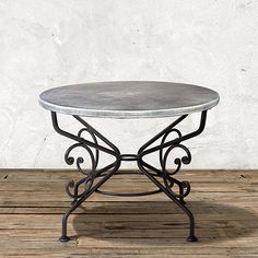 Zinc Alloy Table Top With Moravian Table Base | Arhaus Furniture