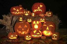 pumpkin faces carving designs | And pumpkins. Lots of pumpkins. Every house must have at least one ...