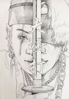 Kpop Drawings, Art Drawings Sketches Simple, Pencil Art Drawings, Outline Art, Arte Sketchbook, Bts Chibi, Bts Pictures, Fan Art, Army