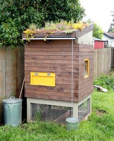 Chicken coop with a garden.  This is for Stacy S.