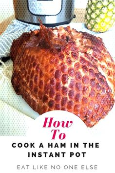 Learn how to cook a boneless or semi-boneless ham in the Instant Pot. How long does it take to cook a ham in the Instant Pot? - Ham - Ideas of Ham Instant Pot Ham Recipe, Instant Pot Dinner Recipes, Recipes Dinner, Dinner Ideas, Pressure Cooker Ham, Instant Pot Pressure Cooker, Pressure Cooking, Slow Cooker, Ham Cooking Time