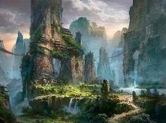Ming Fan ~ Fantasy Landscape