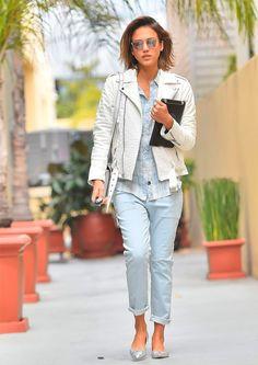 jessica alba jaqueta couro