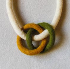 short felt necklace contemporary elegant by totalhandmaded on Etsy, €20.00