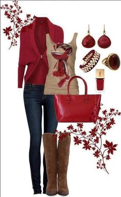 Casual Chic! When in Doubt Add Red!
