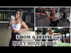 pretty simple and great superset try sets. I like the cable exercises she adds Complete Shoulder Workout Body Fitness, Fitness Goals, Fitness Tips, Female Fitness, Health Fitness, Shoulder Workout Women, Shoulder Routine, Back Day Workout, Bodybuilding Competition