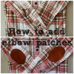 how to fix torn elbow shirt