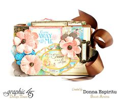 How to Make a Travel-Themed Mini-Album by Donna using Come Away with Me #graphic45 #tutorials