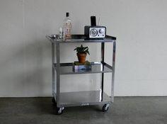 Vintage Industrial Stainless Steel Utility Cart Stainless Steel Furniture, Utility Cart, Vintage Industrial, Bar Cart, Shelves, Table, Etsy, Home Decor, Shelving