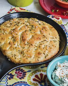 Easy bread cooked in a skillet and topped with fennel seed!