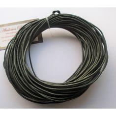 Cordón cuero verde 2 mm