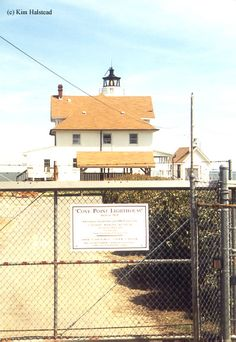 The Cove Point lighthouse was built in 1828, and cost $2000. It had grown and changed many times. In 1928, the lighting was changed from kerosene to electricity. the keeper's quarters went from a single family residence to a duplex to house two keepers and families. Later, a second stand-alone building was built to house a third keeper. In 1986, the station was automated. Light comes on at dusk, off at dawn.