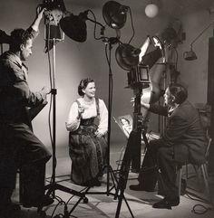 Pauligin Paula-tyttö mainoskuvauksissa, 1950-luku