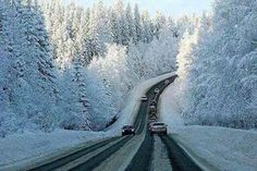 On the way to Villa La Angostura in winter - Bariloche, Patagonia, Argentina. Winter Szenen, Winter Road, Winter Time, Province Du Canada, Paths, Beautiful Places, Scenery, Places To Visit, Around The Worlds