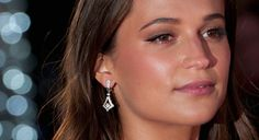 "Alicia Vikander High Heels | Alicia Vikander, earring detail, attends the UK Film Premiere of ""The ..."