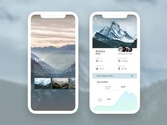 Alps App Concept designed by Ola Michalewska. Connect with them on Dribbble; the global community for designers and creative professionals. Web Design, App Ui Design, Mobile App Design, User Interface Design, Mobile Ui, Iphone Ui, Nova Launcher, Ui Web, Alps