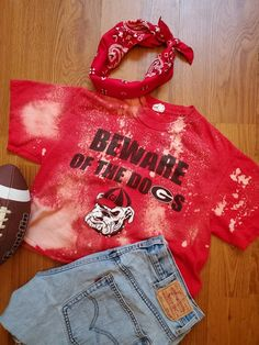 University of Georgia  football tee on Etsy Game Day Shirts, University Of Georgia, Spirit Wear, Georgia Bulldogs, Crop Tee, Kids House, Christmas Sweaters, Trending Outfits, Football Tee