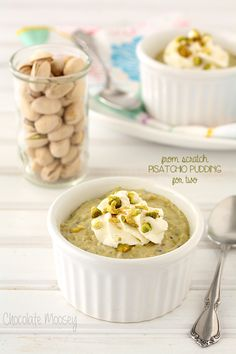 Pistachio Pudding For Two (From Scratch) #SundaySupper @FoodBlogs