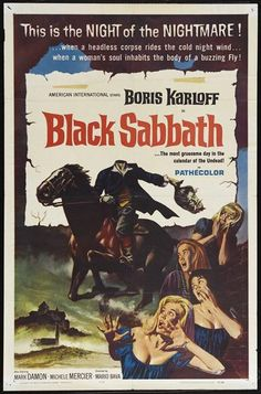 "CAST: Michele Mercier, Lidia Alfonsi, Boris Karloff, Mark Damon, Susy Andersen ; DIRECTED BY: Salvatore Billitteri, Mario Bava; PRODUCER: Salvatore Billitteri, Paolo Mercuri; Features: - 11"" x 17"" - P"