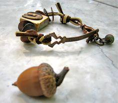 lock and key bracelet  . . . by marthasrubyacorn on Etsy, $39.00