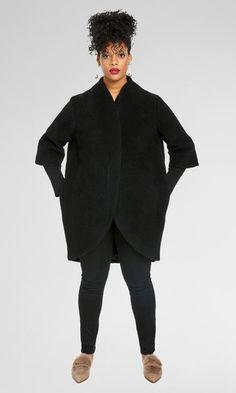 Talfer Cocoon Coat - Black