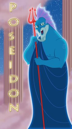 Poseidon - Neptuno by ~666-Lucemon-666 on deviantART (Greek Gods from Disney's Hercules)