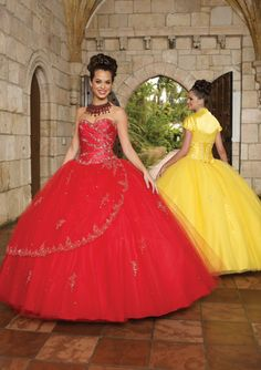 I've always wanted a bright yellow dress, and the red is interesting as well!