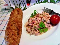 Šalát z pečeného kuracieho mäsa s broskyňou (fotorecept) - Recept Chicken, Meat, Food, Essen, Meals, Yemek, Eten, Cubs