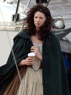 In pictures: Outlander stars film end of first series in Scottish town Troon - Scotland Now - #Outlander #Starz with Caitriona Balfe