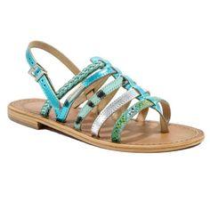 Sandales Les Tropéziennes Beguin bleu multi- Events-stock - Chaussures