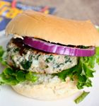 Yummy-licious-ness ... almost as easy as 1...2...3...: ~Greek-style Turkey Burgers with Tzatziki~