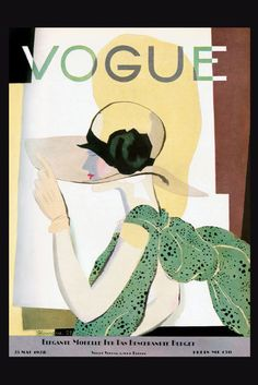 Vogue Cover 1928 by Pierre Mourgue or Georges Lepape