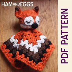 Amigurumi Woodland Sleepy Fox Security Baby Blanket by HamAndEggs, $2.99