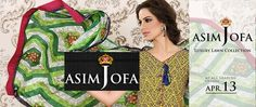 Asim Jofa Luxury Lawn Summer Collection 2015 Complete Catalogue